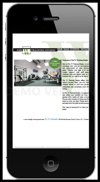 The W Training Studio Mobile Demo